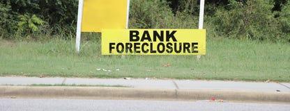 Foreclosure banka własność obrazy stock
