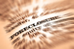 Foreclosure. Closeup of foreclosure definition in dictionary Stock Images