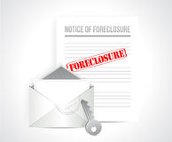Foreclosure final notice concept. illustration Stock Image