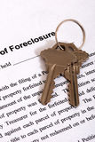 Foreclosure form & Housekeys Stock Photos