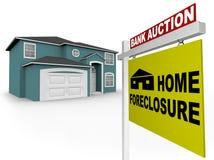 foreclosure frontowy domu znak Fotografia Stock