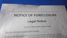 foreclosure home 图库摄影