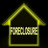 Foreclosure House Home Repossession To Recover Debt Stock Photo