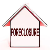 Foreclosure House Means Repossession Royalty Free Stock Image