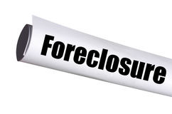 Foreclosure legal document. On white royalty free stock photos