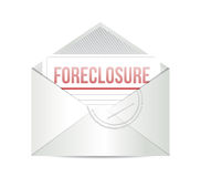 Foreclosure mail illustration design over white Stock Photo