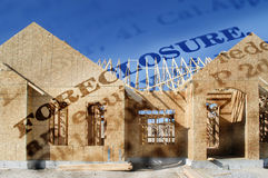 Foreclosure of New Home Royalty Free Stock Image