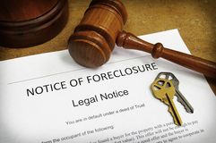 Foreclosure notice Stock Photos