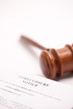 Foreclosure Notice and Gavel Royalty Free Stock Images