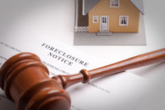 Foreclosure Notice, Gavel and Home Stock Photos