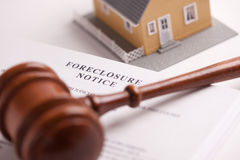 Foreclosure Notice, Gavel and Home Royalty Free Stock Image