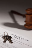 Foreclosure Notice, Gavel and House Keys Royalty Free Stock Image