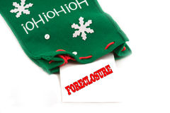 Foreclosure notice for the holidays Stock Images