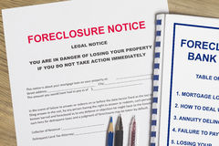 Foreclosure notice Royalty Free Stock Photos