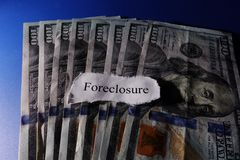 Foreclosure paper Royalty Free Stock Image