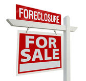 Foreclosure Real Estate Sign Stock Image