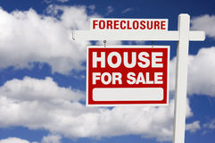 Foreclosure Real Estate Sign Royalty Free Stock Photo