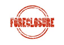 Foreclosure red rubber stamp Royalty Free Stock Photos
