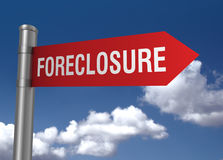 Foreclosure road sign Stock Images