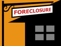 Foreclosure sign Stock Photos