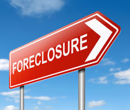 Foreclosure sign concept. Royalty Free Stock Photo