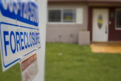 Foreclosure signage Stock Image