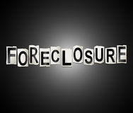 Foreclosure word concept. Royalty Free Stock Photography