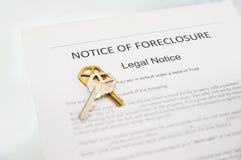 foreclosure zawiadomienie Obrazy Stock