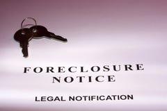 foreclosure zawiadomienie Obrazy Royalty Free