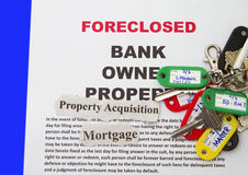 Foreclosure zawiadomienie Fotografia Stock