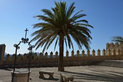 Forecourt of the Santuari de Sant Salvador Royalty Free Stock Image