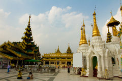 The forecourt of Shwedagon Pagoda, Yangon, Myanmar Stock Photos