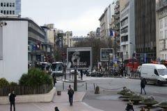 Forecourt Tour Montparnasse Stock Photo