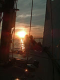 On the Foredeck Royalty Free Stock Photos