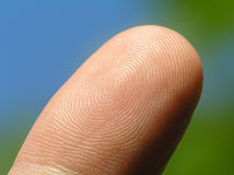 Forefinger. On blurred background stock images
