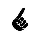 Forefinger. Black on white pointer icon Royalty Free Stock Images