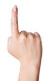 Forefinger female hand Stock Image
