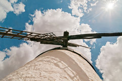 Forefront of the blades of a traditional windmill Stock Photos