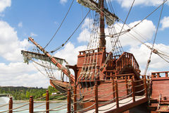 Forefront of Pirate Ship Stock Image