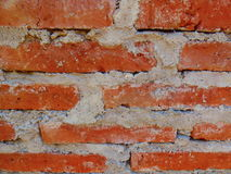 Foreground of a brick wall. Construction. Masonry Stock Images