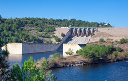 Foreground hydroelectric dam Stock Images