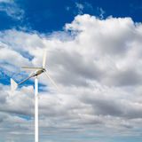 Foreground of the top of a windmill for renewable electric energ Stock Photo