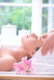 Forehead massage Stock Image