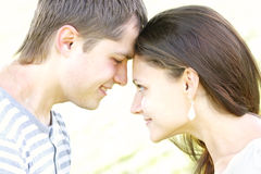 Forehead to forehead Stock Image