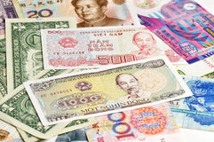 Foreign banknotes Stock Photography