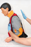 Foreign body airway. choking. In ambulans Stock Images