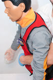 Foreign body airway. choking. In ambulans Stock Photography
