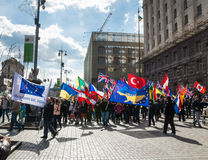 Foreign citizens organized a march Stock Photo