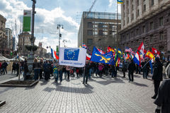 Foreign citizens organized a march in Kiev Stock Image