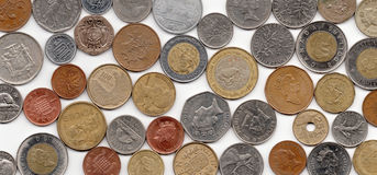 Foreign Coins Stock Images